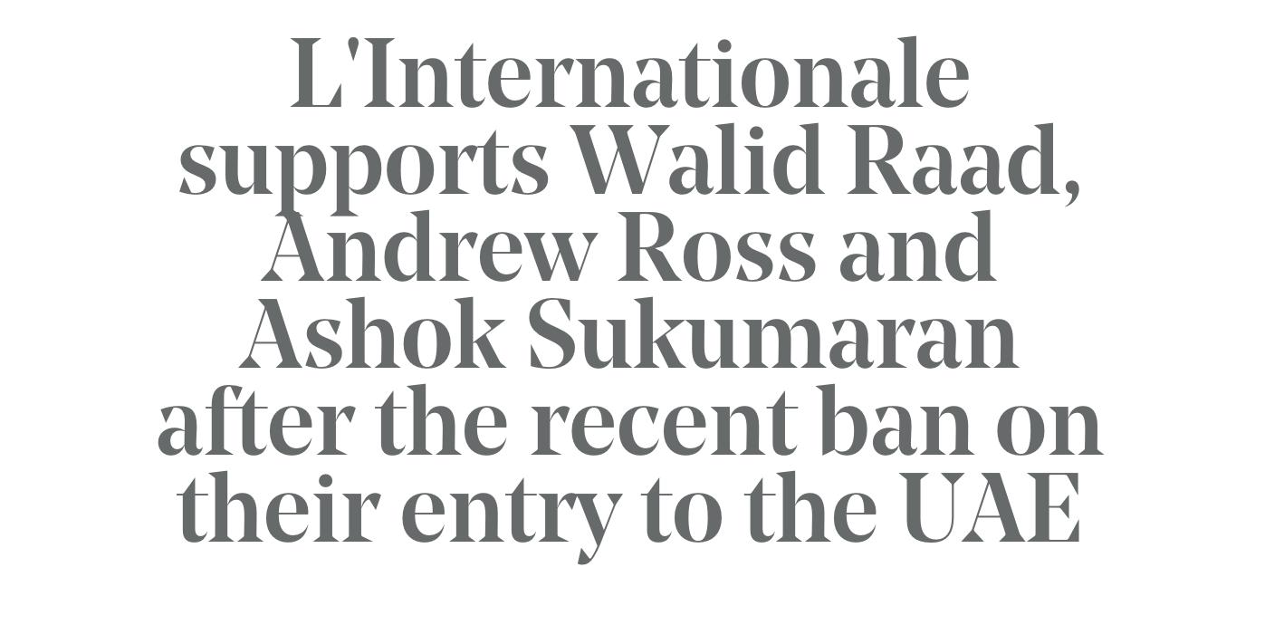 L_Internationale statement
